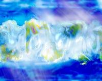 Terra e mar abstratos Imagem de Stock Royalty Free