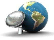 Terra e rádio-aéreo ilustração royalty free