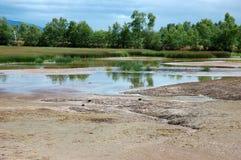 Terra e rio Imagem de Stock