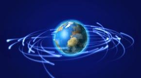 Terra e satélites no espaço Foto de Stock Royalty Free