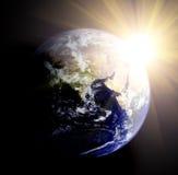 Terra e sol ilustração royalty free
