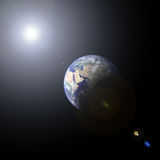 Terra e sole del pianeta Immagine Stock