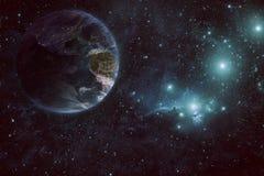 Terra e spazio Fotografie Stock