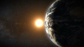 Terra e Sun ilustração royalty free