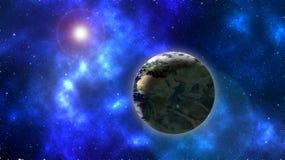 Terra e Sun Fotografia de Stock Royalty Free