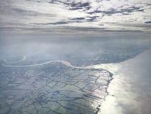 Terra e superficie del mare Fotografia Stock Libera da Diritti