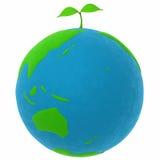 A terra e uma planta Imagem de Stock Royalty Free