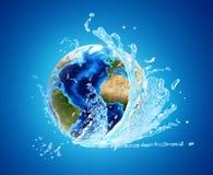 Terra ed acqua fotografia stock