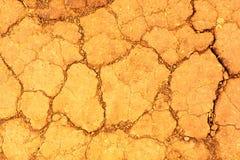 Terra ed erba incenerite incrinate asciutte fotografie stock libere da diritti