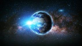 Terra Elementi di questa immagine ammobiliati dalla NASA Fotografie Stock Libere da Diritti