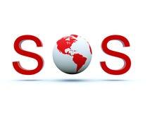 A terra emite um SOS ilustração do vetor