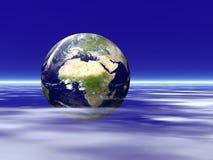 Terra entre as nuvens Foto de Stock Royalty Free