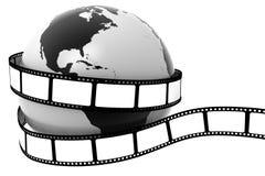 Terra envolvida na película ilustração stock