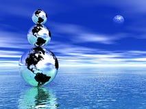 Terra equilibrata Fotografie Stock Libere da Diritti