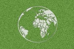 Terra in erba immagini stock