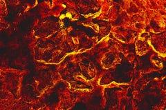 A terra está completa da lava, aquecimento global fotografia de stock