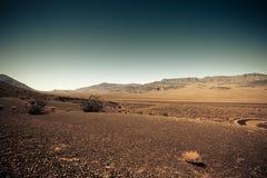 A terra estéril gosta de Marte fotografia de stock