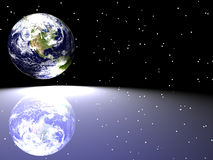 Terra/estrela Scape Imagens de Stock