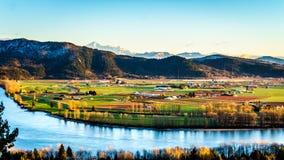 A terra fértil de Fraser Valley no Columbia Britânica fotos de stock
