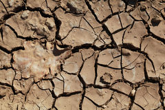 Terra firma. Drought Bad time for Earth. Land with black cracks Stock Photos