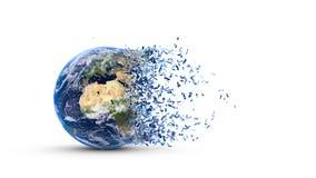 Terra fragmentada Imagens de Stock Royalty Free