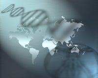 Terra genetica illustrazione di stock