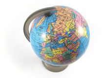 Terra girante del globo Immagini Stock