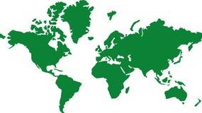 Terra global do mapa do mundo