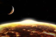 Terra globalmente aquecida Fotografia de Stock