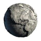 Terra guasto del pianeta Fotografia Stock Libera da Diritti
