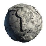 Terra guasto del pianeta Fotografia Stock