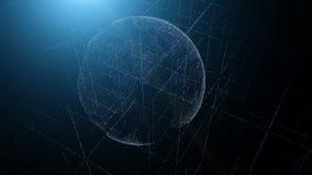Terra holográfica do planeta das partículas fundo tecnológico imagem de stock royalty free