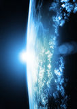 Terra - horizontes azuis Fotografia de Stock Royalty Free