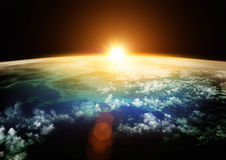 Terra - horizontes bonitos Imagens de Stock Royalty Free