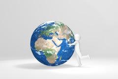 terra humana dos abraços 3d - Europa, África, Médio Oriente ilustração stock