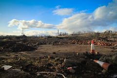 Terra incolta di Developemental in Scozia fotografia stock libera da diritti