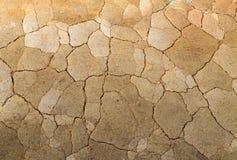 Terra incrinata del fondo del deserto Fotografie Stock Libere da Diritti