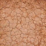 Terra incrinata dell'argilla Immagini Stock