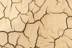 Terra incrinata dell'argilla, fondo Fotografia Stock Libera da Diritti
