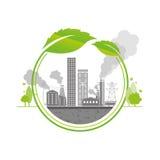 Terra inquinante Immagini Stock