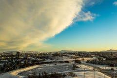 Terra Islanda di inverno Fotografia Stock