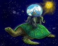 Terra lisa antiga no espaço Imagem de Stock