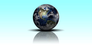 Terra lucida Fotografie Stock