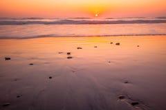 Terra Mar Beach Sunset Royalty Free Stock Photography