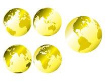 Terra metálica do ouro ilustração stock