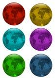 Terra, mundo, mapa Imagens de Stock Royalty Free