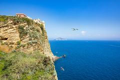 Terra Murata situated on highest point of island Procida, Italy Royalty Free Stock Image