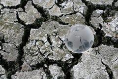 A terra na terra seca fotografia de stock