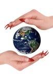 Terra nas mãos Imagem de Stock