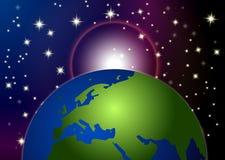 Terra nella priorità bassa dello spazio Immagini Stock Libere da Diritti